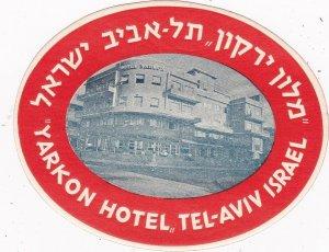 Israel Tel Aviv Yarkon Hotel Vintage Luggage Label sk2720