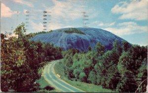 Postcard GA Stone Mountain PHOTO CHROME COLOR VINTAGE PC POSTED
