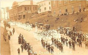 Red Cross Nurse Parade in 1918 RPPC Postcard