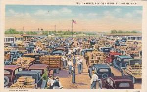 Fruit Market Benton Harbor Saint Joseph Michigan 1942