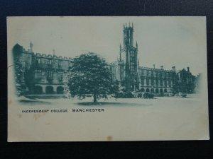 Manchester THE LANCASHIRE INDEPENDENT COLLEGE c1902 UB Postcard