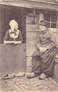 Old Man & Woman, Volendam (North Holland), Netherlands, 1900-1910s