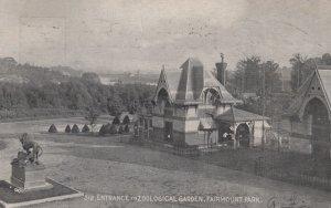 Entrance to Zoo , Fairmount Park , Philadelphia , Pa. , 00-10s
