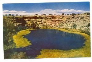 Montezuma Well, Spring resembling small volcano crater, Arizona, 50-70s
