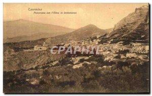 Old Postcard Panorama Con Taormina Etna in Lontananza