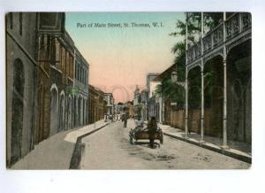 144588 Danish West Indien Virgin Islands St.Thomas Main street