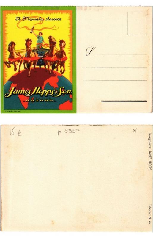 CPA AK ADVERTISING MAzARA - James Hopps & Son (307943)