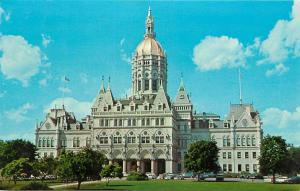 Hartford Connecticut State Capitol Bushnell Park French Gothic Postcard