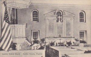 Virginia Fairfax County Interior Pohick Church Albertype