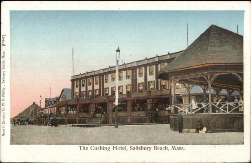 Salisbury Beach Ma Cushing Hotel Copper Windows C1905 Postcard