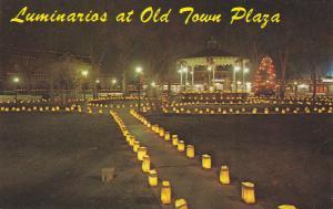 OLD ALBUQUERQUE, New Mexico, 40-60s ; Christmas Luminarios at Night, Gazeebo