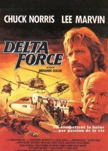 Chuck Norris Delta Force Rare French Film Movie Postcard