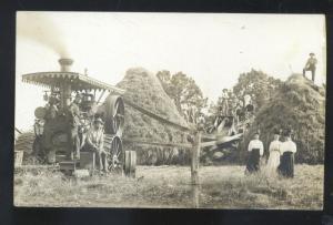 RPPC HOUSTONIA MISSOURI FARMING SCENE VINTAGE TRACTOR REAL PHOTO POSTCARD