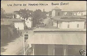 lebanon, RAYAK RIYAQ, Hauche-Halla (1926) RPPC