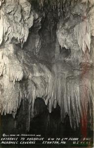Stanton MO~Entrance to Paradise~Meramec Caverns Route 66~4th-5th Floor~1940 RPPC