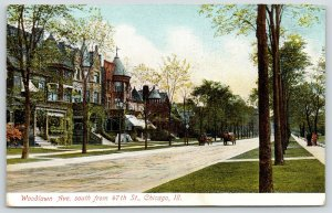 Chicago Illinois~Woodlawn Avenue Homes~South from 47th Street~Wagons~1908