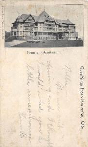 Wisconsin Wi Postcard 1904 KENOSHA Pennoyer Sanitarium Building Greetings