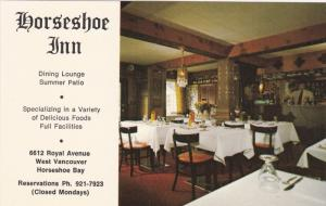 Horsehoe Inn , Dining Room , West VANCOUVER , B.C. , Canada , 50-60s