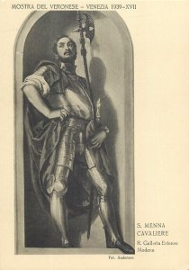 Venice Art Exposition du Veronese Cavaliere S Menna Postcard