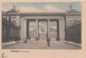 Kobenhavn Kolonade Angry Man Street Cart Denmark Old Postcard