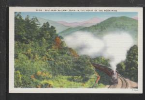 Southern Railway Train,In the Mountains Postcard