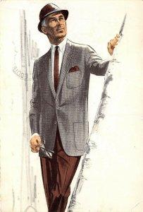 Louisville Kentucky 1963 Advertising Postcard RE Vaughan Custom Tailors