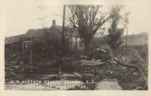 RP; ANTRIM , New Hampshire , 1922 ; Tornado damage , M.P. McIlvin Place