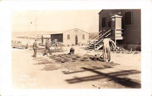 Camp Cooke California~PX Army Store No 12~Extra Duty~Garden~1942 WWII RPPC