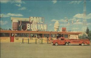Brainerd MN Paul Bunyan Center Ice Cream Stand Fire Truck Postcard