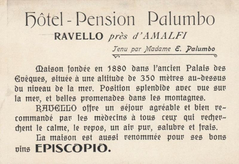 RAVELLO , Italy , 00-10s ; Hotel - Pension Palumbo