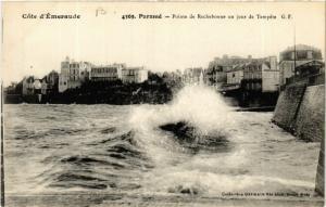 CPA  Cote d'Émeraude - Paramé - Pointe de Rochebonne un jour de Tempéte (584688)