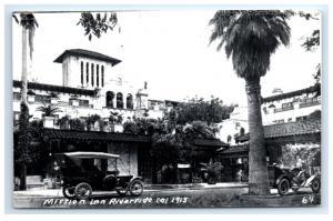 Postcard Mission Inn, Riverside, CA 1915 vintage cars RPPC D13