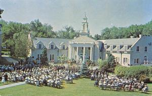 Ripon College WI Outdoor Graduation Exercises @ The Student Union 1950s