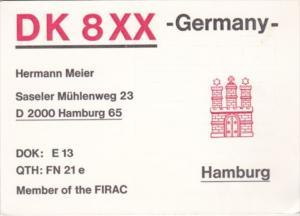 Amateur Radio DK8XX Hermann Meier Hamburg Germany