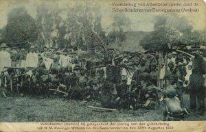 indonesia, MOLUCCAS MALUKU AMBON, Princess's Day, Alfur Games (1908) Postcard
