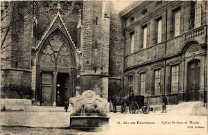 CPA AIX-en-PROVENCE Église St-Jean et Musee (339906)