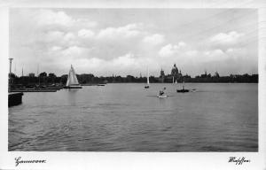 Hannover Lake Boats Canoe Harbour Panorama Postcard