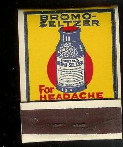 BROMO SELTZER 1930's Full Unstruck Matchbook