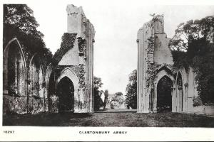 England -  1 Card View of Glastonbury Abbey,Somerset  unused Real Photo #1547#