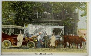 Hand-Tinted DB Postcard St. George Hotel Brooklyn, NY Old & New Oregon Trail Ex