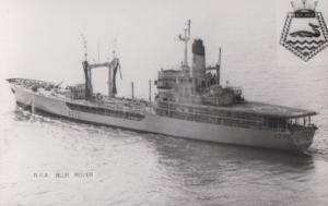 RFA Blue Rover Navy Military War Ship Vintage Plain Back Postcard Old Photo