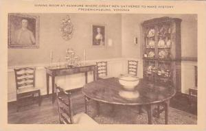Virginia Fredericksburg Dining Room At The Kenmore Where Great Men Gather To ...