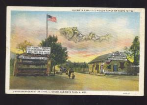 GLORIETA PASS NEW MEXICO OLD PIGEON RANCH SANTA FE TRAIL VINTAGE POSTCARD