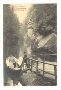 Boat in Mountainious River,Bohm,Germany 1900-10s