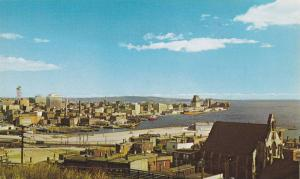 View of the Harbour and City Skyline, From Cliffs of Fort Howe, Saint John, N...