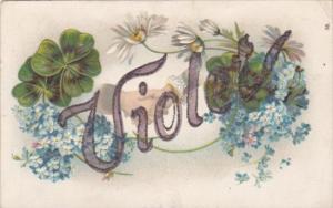 Name Card Violet