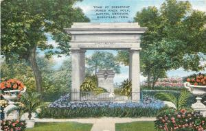 Nashville Tennessee~Capitol Grounds~President James Knox Polk Tomb~1945