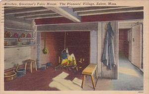 Massachusetts Salem Kitchen Governors Faire House The Pioneers Village 1956