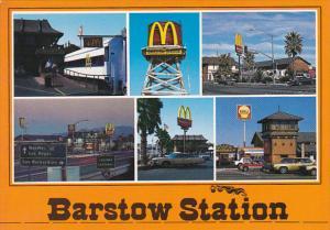 Barstow Station MacDonalds Restaurant Shell Gas Station Barstow California