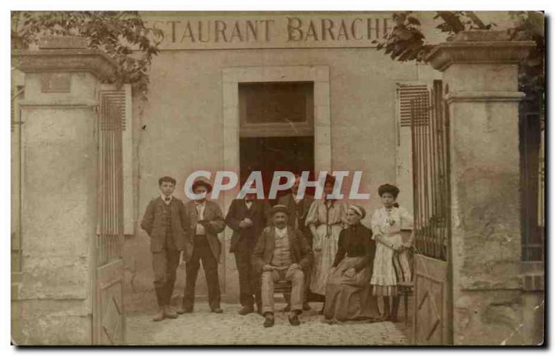 PHOTO CARD Folklore Restaurant Barache Region Center Cher